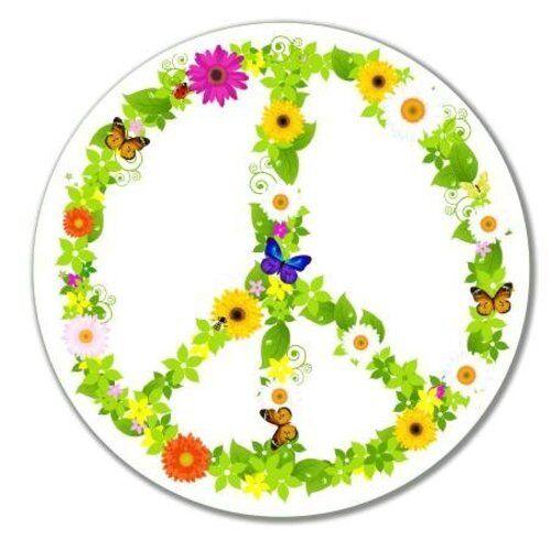 Peace Sign Nature Vinyl Sticker SELECT SIZE