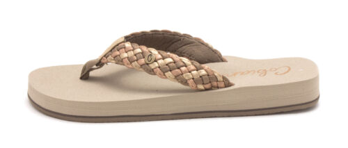 Size 10.0 Cobian Womens braided bounce Open Toe Casual Gold multi