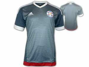 Adidas-Paraguay-Trikot-grau-APF-Away-Jersey-Copa-America-Fussball-Fan-Jersey-S-XL
