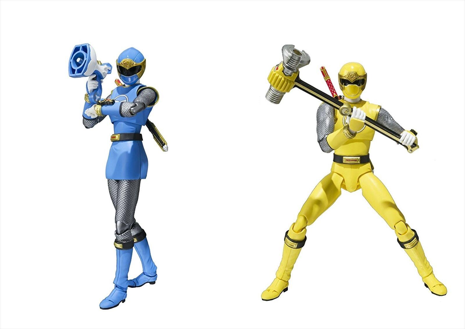 Bandai S.H.Figuarts Ninpuu Sentai Hurricaneger Hurricane blu & giallo Set
