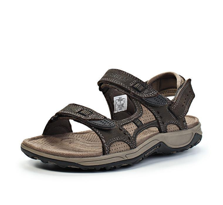 Merrell Agama Men's Hiking Leather Sandals, US 8 9 10 13 Brown -  NWT