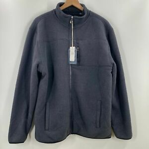 Weatherproof-Mens-Blue-Fleece-Lined-Full-Zip-Jacket-Pockets-New-XL