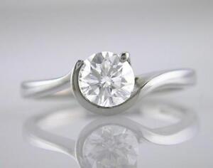 Diamond-Solitaire-amp-Platinum-Ring-1-00ct-Brilliant-Cut-Certified-G-VS2-Exc