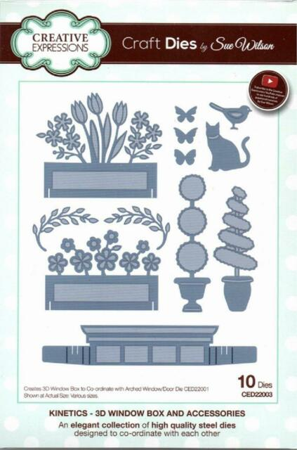 Creative Expressions Kinetics - 3D Window Box & Accessories - Craft Dies - Sue W