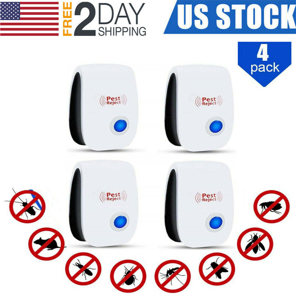 4X Ultrasonic Pest Reject Electronic Magnetic Repeller Mosqu