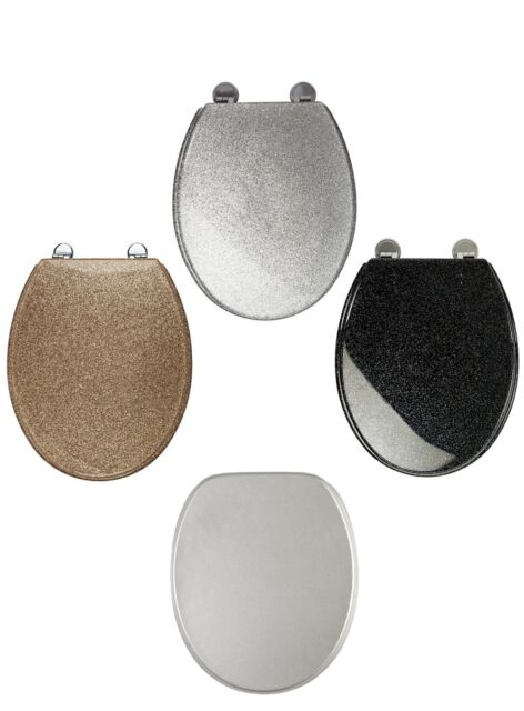 Astonishing Glitter Toilet Seat Range Novelty Glitzy Sparkle Resin Bathroom Soft Slow Close Caraccident5 Cool Chair Designs And Ideas Caraccident5Info