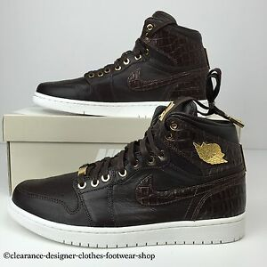 b77dcfd13bf0 NIKE AIR JORDAN 1 PINNACLE TRAINERS RETRO BAROQUE BROWN 24K GOLD ...
