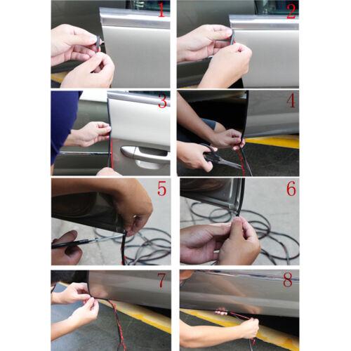 Black 2M Moulding Trim Strip Car Door Scratch Protector Edge Guard Rubber Strip