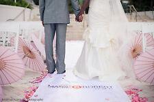 Wedding Aisle Runner Monogram Isle Runner Ceremony Decoration White Ivory Fabric