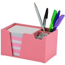 Acrimet Desk Organizer Pencil Paper Clip Holder Solid Pink Color With Paper
