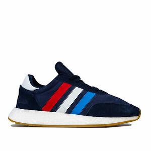 Da-Uomo-Adidas-Originals-I-5923-Scarpe-da-ginnastica-in-Collegiate-Navy-Rosso-attivo