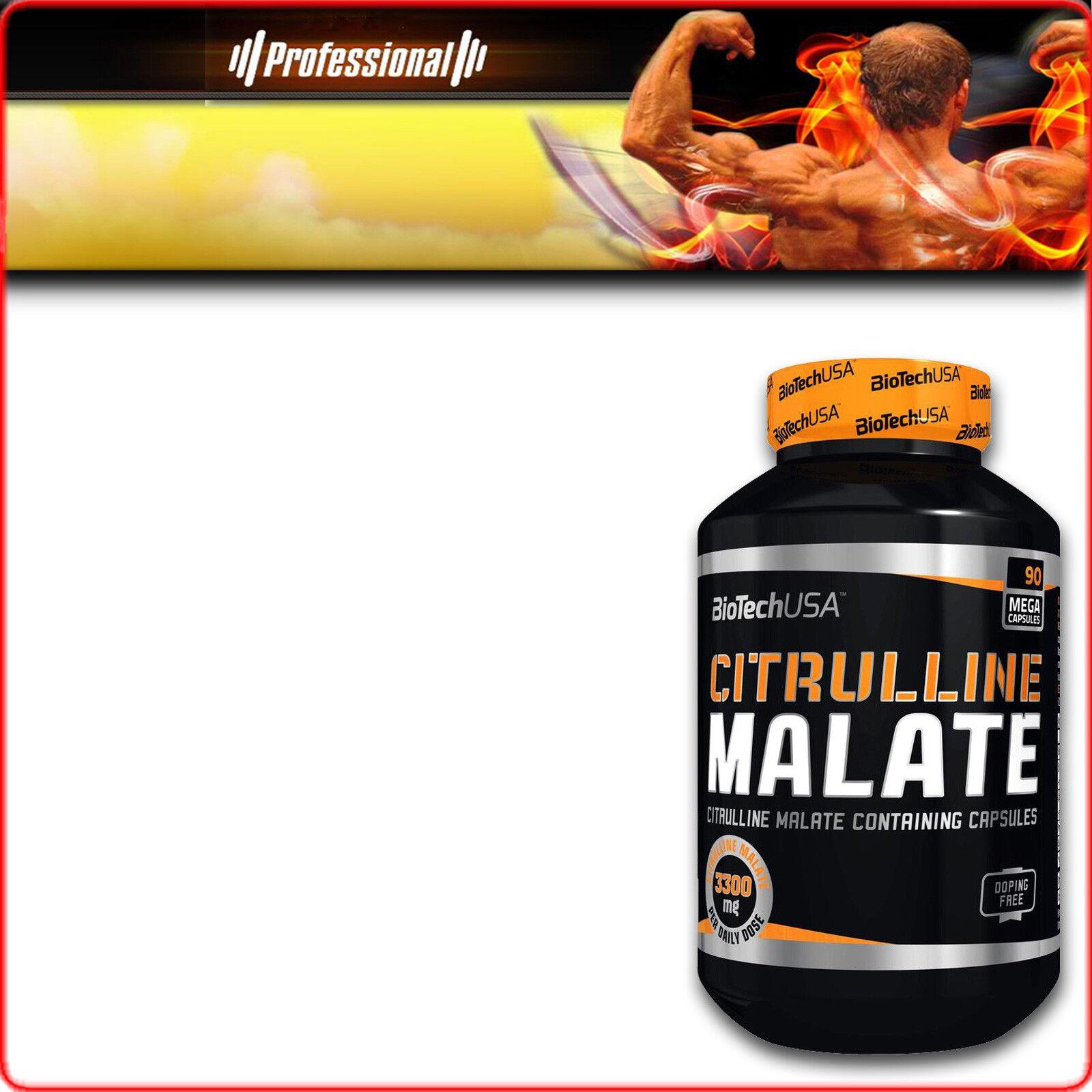 BioTech Citrulline Malate 300/600g 90/180c 90/180c 90/180c citrullina produzione ossido nitrico 3e3246
