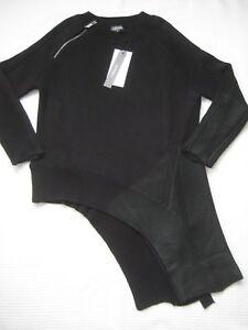00 310 a asimmetrica maglia a in cotone Euro C con Nwt S lavorazione costina nera Costina q4ZH8w6q