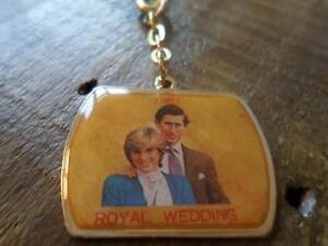 Image Is Loading Vintage 1981 Royal Wedding Keyring Collectable Charles Amp