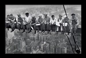 Lunch Atop A Skyscraper New York 1932 Iconic Photo XL Wall Art Canvas Print