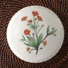 Royal Kent Bone China Round Lidded Floral Trinket Box Staffordshire England