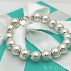 42ad7cb8d Image is loading Tiffany-amp-Co-HardWare-Ball-Bracelet-Sterling-Silver-
