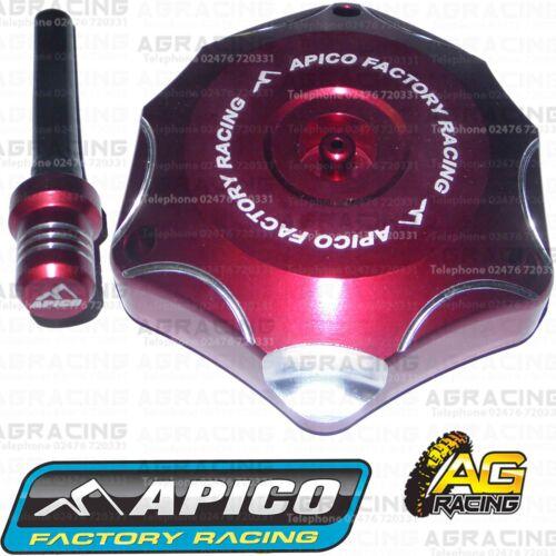 Apico Red Alloy Fuel Cap Breather Pipe For Honda CRF 450R 2002 Motocross Enduro