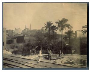 Egypte-Caire-Construction-de-la-ligne-de-train-vintage-citrate-prin