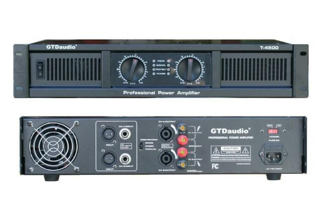 2 Channel 4500 Watts Professional Power Amplifier AMP Stereo GTD-Audio T-4500