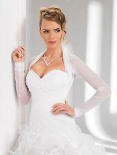 Bridal Ivory/White Tulle Bolero Shrug Wedding Jacket Shawl S/M/L/XL/XXL/XXXL