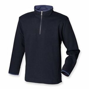 Excellent Quality BLACK or BLUE Half 1//4 Zip Sweat Sweatshirt