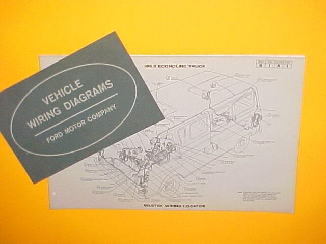 1963 Ford Econoline Cargo Van Pickup Truck Bus Factory Original Wiring Diagrams
