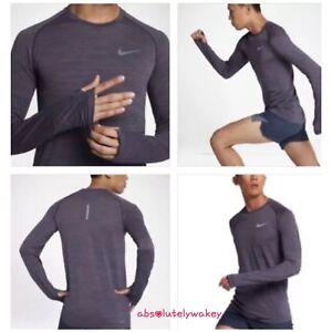 Details zu Nike Men's Dri FIT Knit Long Sleeve Shirt Fitness Sports Gym Running Top XL