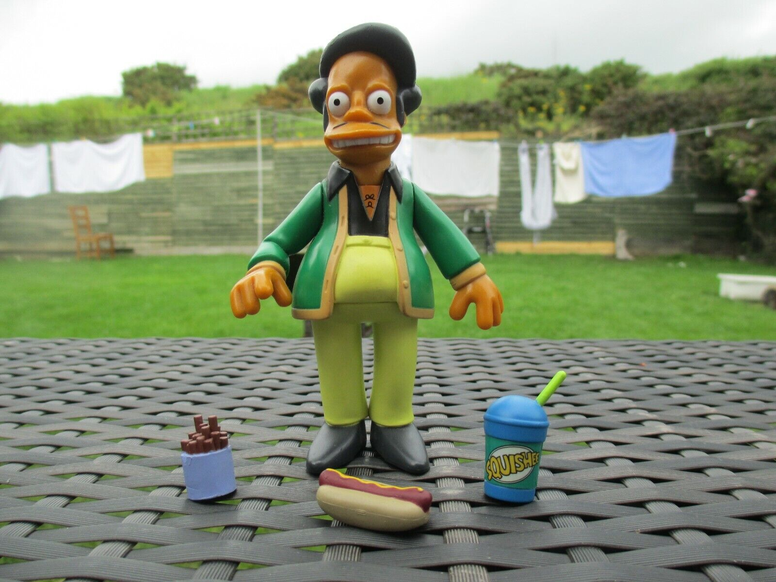 RARE 2001 Playmates WOS The Simpsons - APU - Series 1 COMPLETE Action Figure Toy