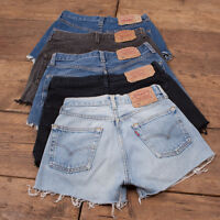 Grade B! LEVIS 501 VINTAGE HIGH WAISTED DENIM SHORTS HOTPANTS 26 28 29 30 32 34