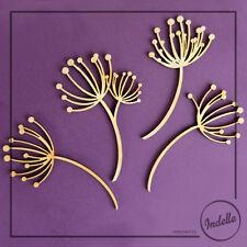 Dandelions 4pcs/bag Wooden Craft Shapes 3 mm Plywood MDF Blanks