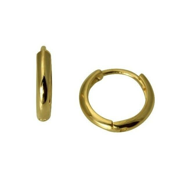 14k Yellow Gold 2mm Thickness Small Huggies Earrings For Kids S Ebay