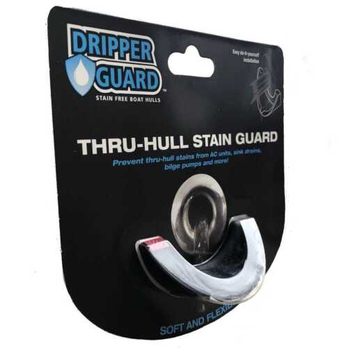 Dripper Guard DG-LG-BLK Boat Thru-Hull Stain Protector Black Large A//C Sink Sump