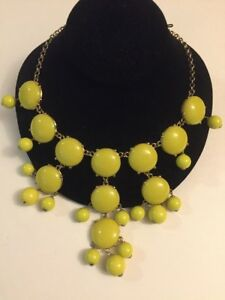 150-J-CREW-Massive-Bubble-Stone-Bib-Statement-Necklace
