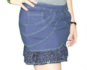 CUSTO-BARCELONA-Womens-Doni-Morado-Purple-Leopard-Skirt-2193507-Sz-6-40-NWT