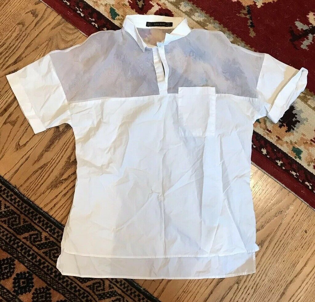 Zara Weiß Shirt Größe Small