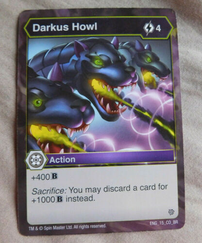 BAKUGAN BATTLE Planet RESURGENCE DARKUS HOWL Action Card 15/_CO/_BR