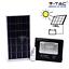 FARO-ENERGIA-SOLARE-LED-CON-PANNELLO-FARETTO-CREPUSCOLARE-TELECOMANDO-V-TAC miniatura 1