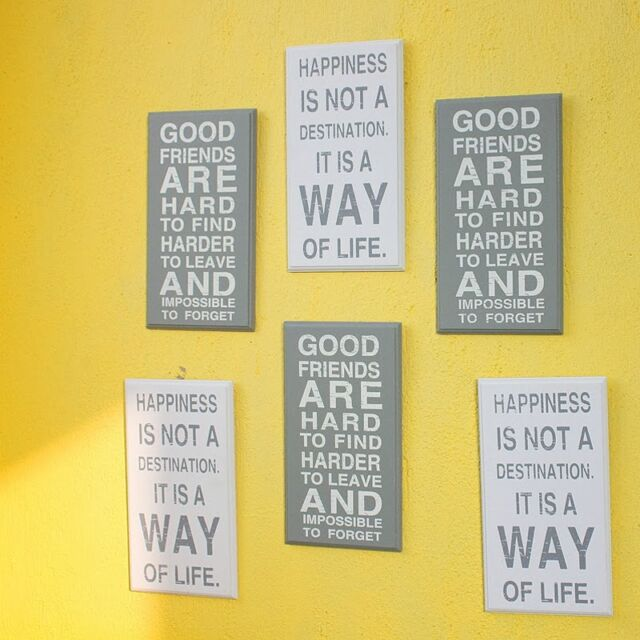 Home Decoration Wood Letter Paintings Wall Accessories Gardening White Grey New