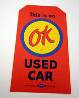 Chevrolet Dealer Ok Used Car Warranty Orange Tag Without Hole