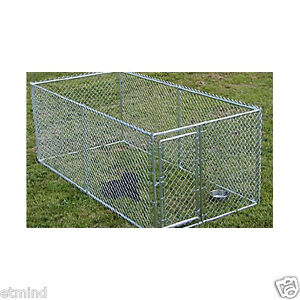 LARGE-CHAIN-LINK-4-039-x10-039-x5-039-DOG-KENNEL-PET-PEN-FENCE-OUTDOOR-NEW-FREE-SHIP