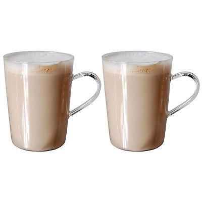Zuhause - Nova Set of 2 Superior Fine Glass Coffee Mugs 500ml
