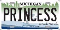 Princess Michigan Metal Novelty License Plate