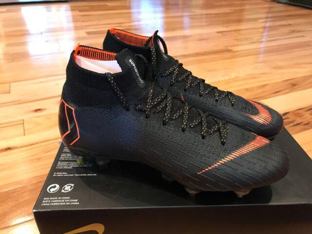 cd043bb4fa Nike Mercurial Superfly 6 Elite SG Pro AC Black Total Orange AH7366-081  Size 7