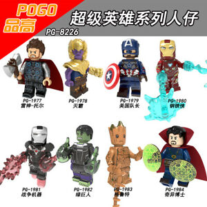 Bausteine-Spielzeug-Figur-Filmcharak-Superheld-Thanos-Modell-Mini-Kind-DIY-8PCS