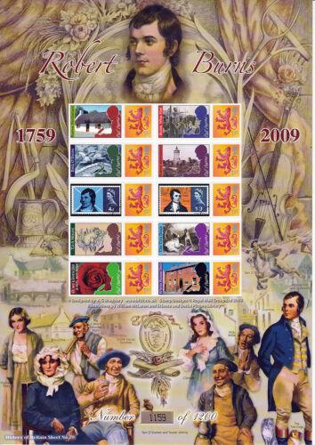 BC-192 - 250th Anniv of the Birth of Robert Burns Smilers Stamp Sheet