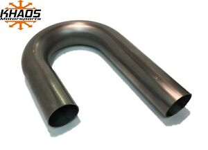 "Squirrelly 2/"" 180 Degree U 304 Stainless Steel Mandrel Bends Pipe Exhaust 2 Pack"