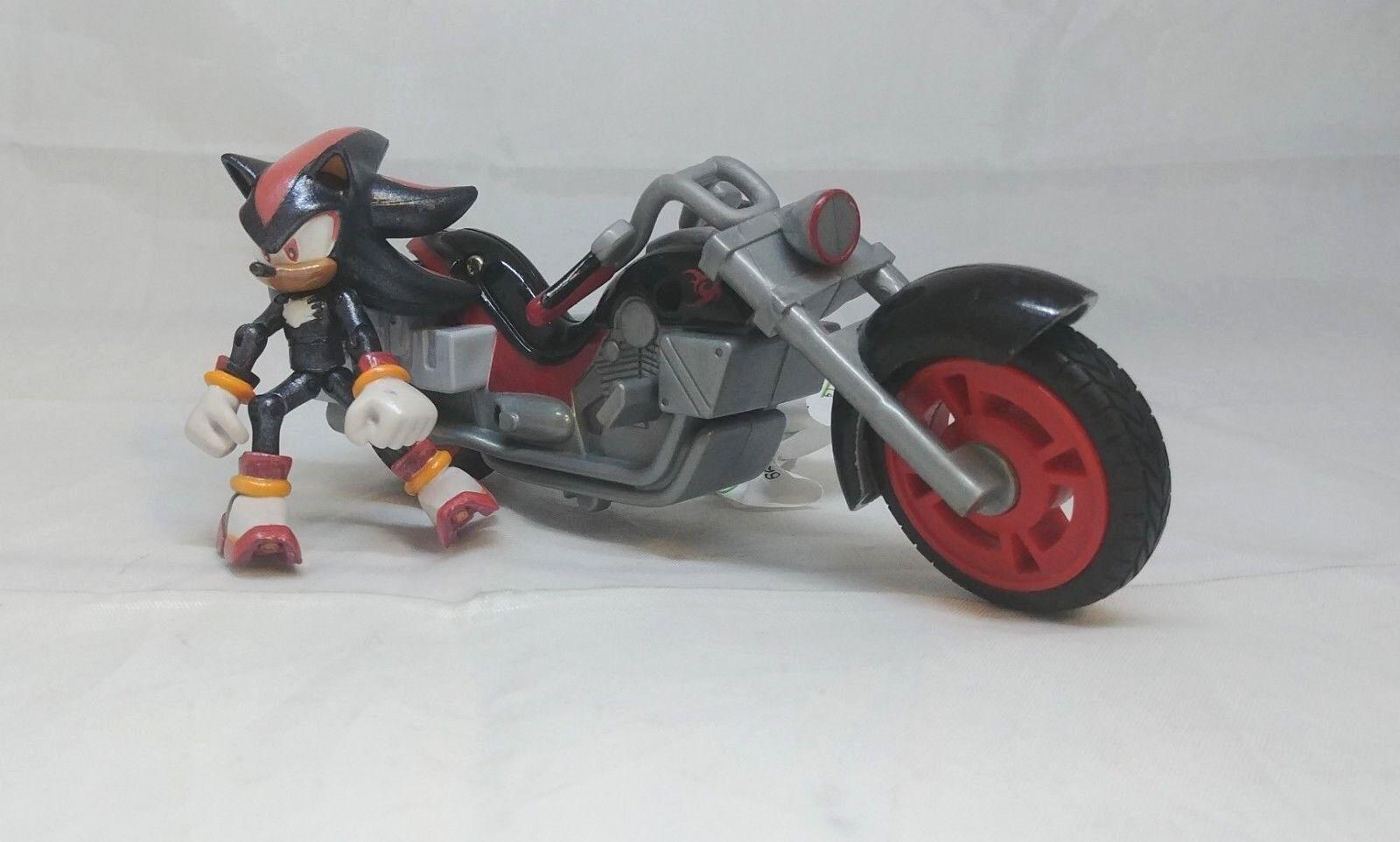 Jazwares Shadow the Hedgehog Action Figure on Motorcycle Sega All-Stars Racing