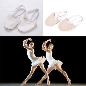 Half-PU-Leather-Sole-ballet-pointe-Dance-Shoes-Rhythmic-Gymnastic-SlippersFootvb