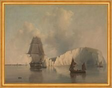 Off the Needles, Isle of Wight William Edwards Insel Segelschiffe B A2 03497